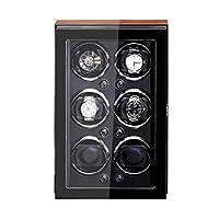 自動時計ワインダー非常に静かなモーター調整可能な時計枕ウッドシェルピアノペイント外装 4 回転モード