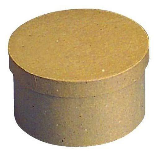 Rayher 71741000 Pappmaché Schachtel FSC Rec. 100 %, 14 cm ø, rund, 8 cm hoch