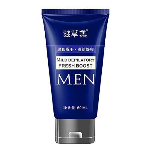 Herren Haarentfernungscreme/Dorical Männer Enthaarungscreme, Enthaarungsmittel, Hair Removal Cream Schnell und Einfach Haarentfernung, Lässt die Haut sanft, 60ml