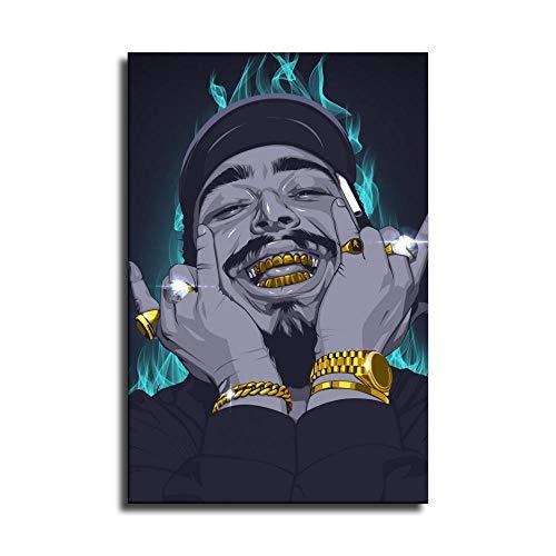 Leyendas Never Die Rap Singer Post Malone Hip-hop Art Lienzo impreso para decoración del hogar, cuadros de arte de pared, pósteres para regalos de decoración de dormitorio