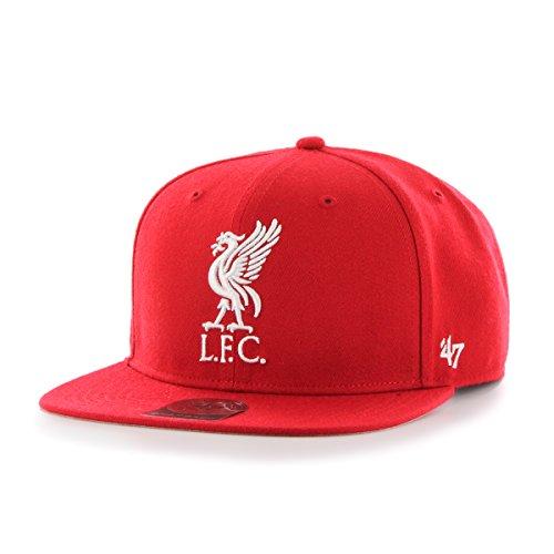 '47 Gorra Plana roja Snapback Lisa con Logo Grande Frontal de Liverpool...