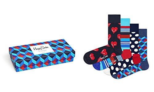 Happy Socks Gemischt farbenfrohe Geschenkbox an Baumwollsocken für Männer & Frauen,Nautical,41-46
