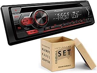 Pioneer DEH S110UB 1 DIN Autoradio mit CD USB AUX für FIAT Panda 169 2003 2012 grau