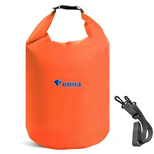 Azarxis 10L 20L 40L Borsa Impermeabile per Barca Nuota Rafting Pesca, Sacco Emertico Galleggiante da Viaggio Mare Fiume Lago Parco Acquatico (Arancione, XS)