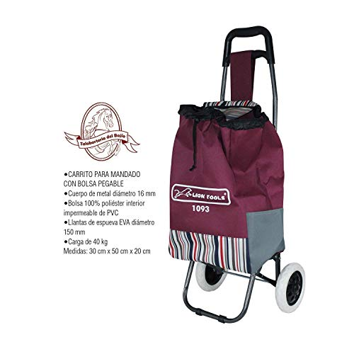 Carrito para mandado con bolsa plegable hasta 40 KG. HG1093