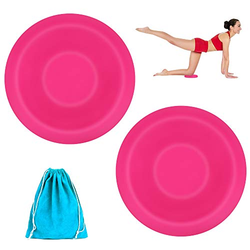 Achort Yoga Knee Pad, 2 PACK Yoga Knee Pads for Knees, Kneeling Support for Yoga Eco-Friendly & Lightweight Cushion for Hands, Wrists, and Elbows (PINK)