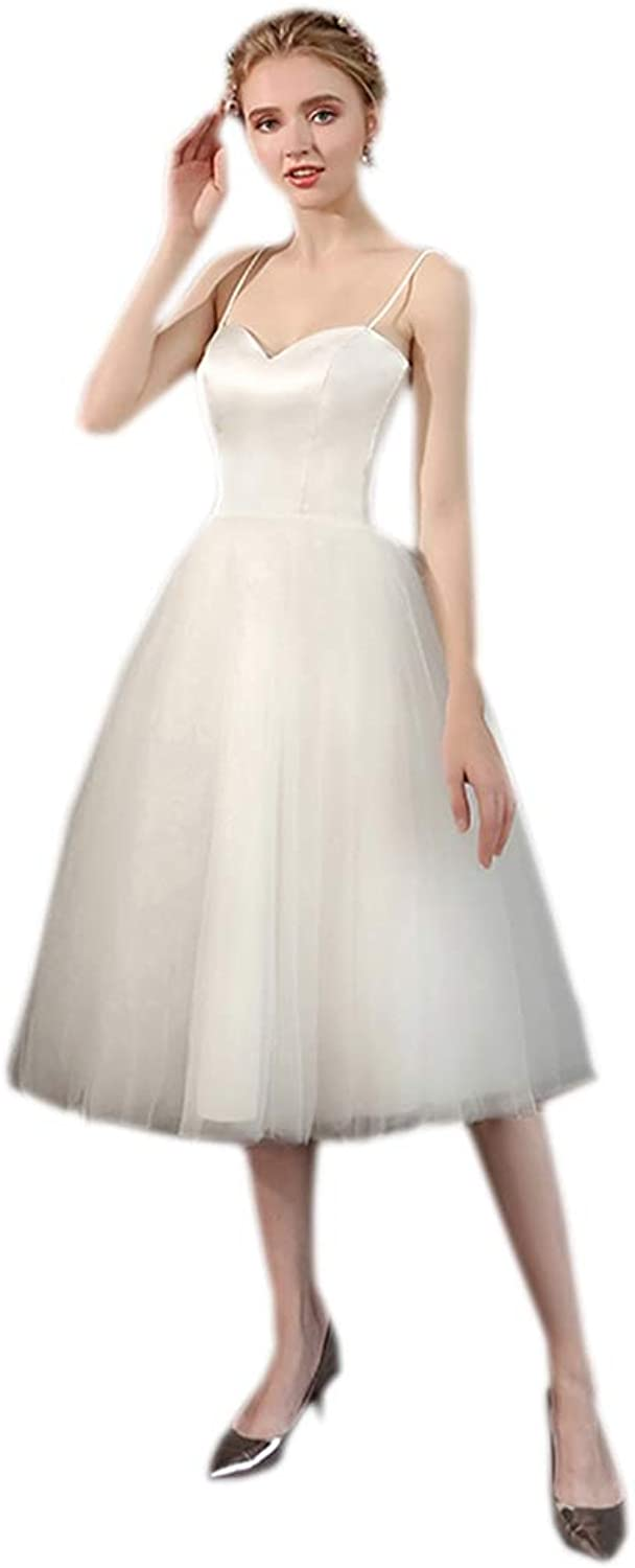 CiONE Homecoming Dress Simple Wedding Dress Straps for Women