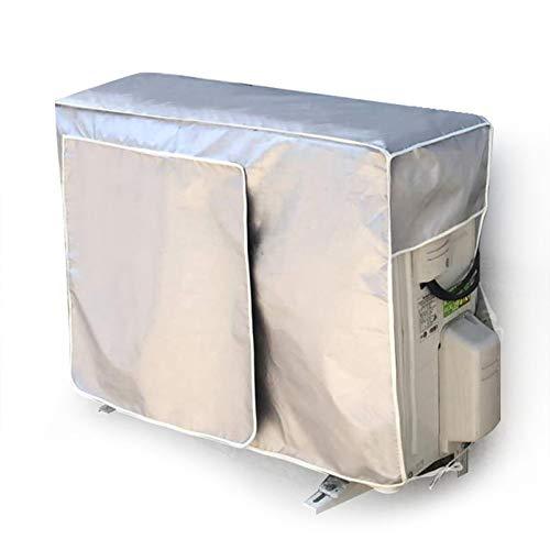 Prom-note Klimaanlagen Abdeckung Rechteck Außen Anti-Staub Anti-Schnee Wasserdicht Sonnenschutz UV-Schutz Klimaanlage Schutzabdeckung 3 Größen - Silber