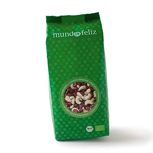 Mundo Feliz Cashew-Cranberry-Mix aus Bio-Anbau, 2 x 500 g