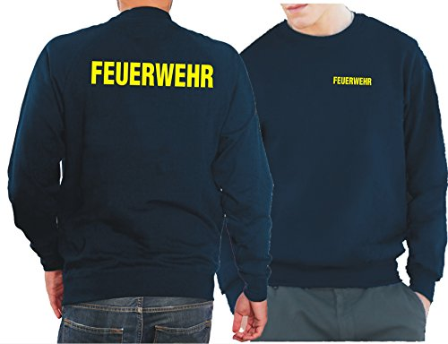 Feuer1 Sweat-shirt Navy Pompiers Jaune fluo S bleu marine