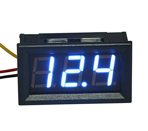 Kfz Digital Einbau Voltmeter DC 0-99,9V Rot LED Spannungsmesser z.B