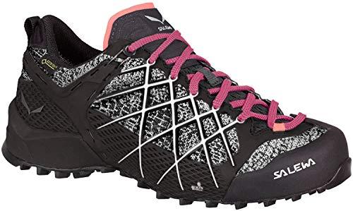 Salewa WS Wildfire Gore-TEX, Zapatos de Senderismo Mujer, Negro (Black/White), 36 EU