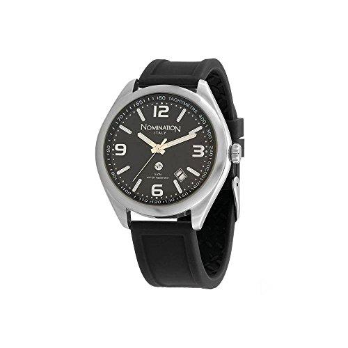 Nomination Herren Analog Quarz Uhr mit Silikon Armband 077101/012