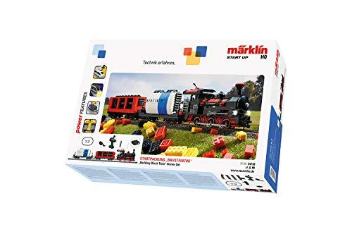 Märklin 29730 Start up ‐ Startpackung Bausteinzug, Modelleisenbahn zum Bauen, Soundfunktionen, Lichteffekte, mit Gleisen, Spur H0, ab 6 Jahre