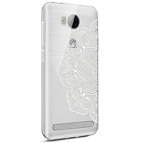 kompatibel mit Huawei Y3 II Hülle,Schmetterling Mandala Blumen Transparent Silikon Handyhülle Schutzhülle TPU Silikon Schutz Handy Hülle Case Backcover Handytasche Etui für Huawei Y3 II,3