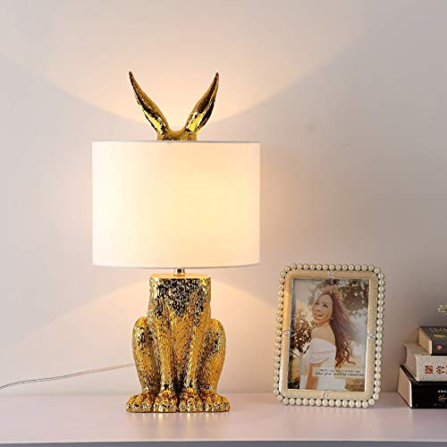 LG Snow lámparas Lámpara De Mesa/Lámpara De Cabecera del Dormitorio/Sala De Estar Proyecto Hotelero Decoración De La Mesa De Conejo Moderna Nórdica Creativa 24 × 49cm