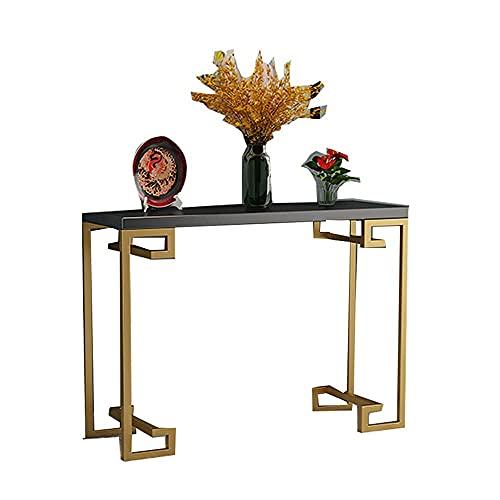 Tavolino Tavolino Da Caffè Moderno In Marmo, Tavolino Di Fascia Alta Di Facile Montaggio, Consolle, Ingresso, Armadietto Laterale Con Struttura In Metallo Dorato Per Soggiorno (Dimensioni: 8