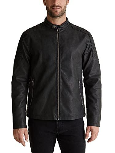 ESPRIT Biker-Jacke in Leder-Optik
