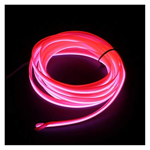 Iluminación interior del coche 1 m/2 m/3 m/5 m tiras auto L E D tira guirnalda de alambre EL decoración del coche neón L E D lámpara flexible tubo de cuerda (color: 1 m USB Drive)