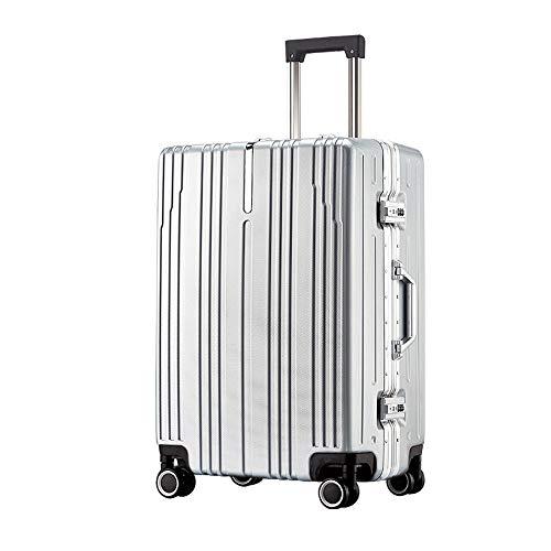 Ys-s Personalización de la tienda El marco de aluminio caja de la carretilla de la rueda universal de 20 pulgadas caso embarque viajes aleación de aluminio de 24 pulgadas maleta impermeable, resistent