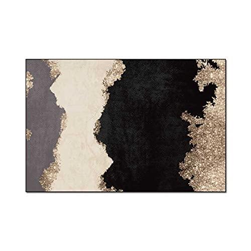 ZAZN Alfombra De Entrada Abstracta De Arte Azul con Textura De Mármol, Sala De Estar, Dormitorio, Cocina, Mesita De Noche, Alfombras, Alfombrillas Lavables A Máquina
