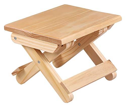 Taburete plegable de bambú de 10,23 pulgadas, silla de ducha de madera portátil Silla de ducha Taburete de descanso para adultos para niños Discapacitados Mujeres Ancianos ( Colour Name : Wood )
