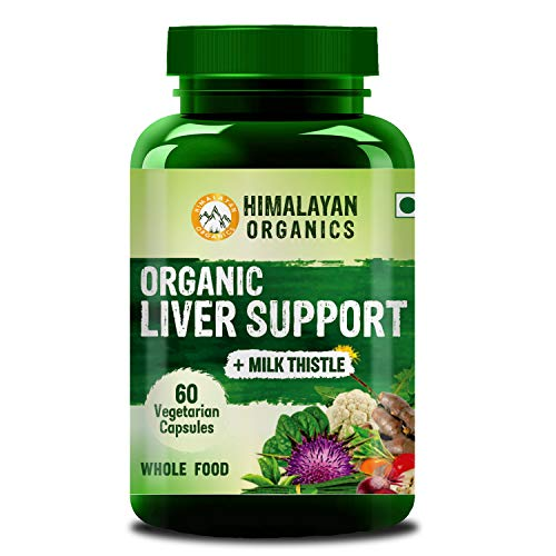 Himalayan Organics Organic Liver Support with Milk Thistle for Liver Support || 60 Veg Capsules