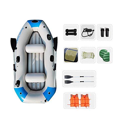 WNN Barco Inflable Kayak 3-Persona cámara de Aire Independiente de Gaza Piso Canoa Equipado con Bomba de Aire Profesional Paddle URG