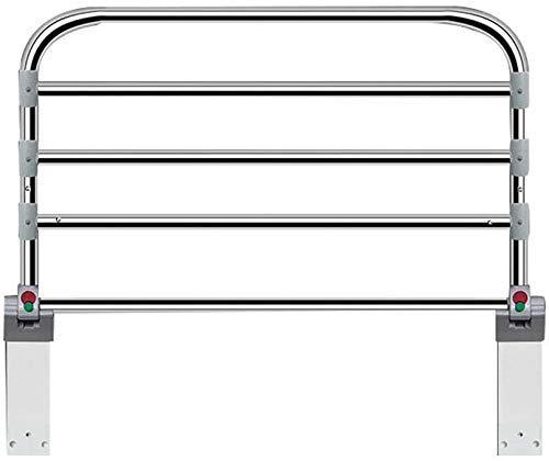 NZKW Rieles de Cama Plegables Protector de Cama Lateral de Seguridad para Ancianos, Soportes de protección Lateral de Cama Mango de riel Auxiliar de Acero Inoxidable de 90 cm