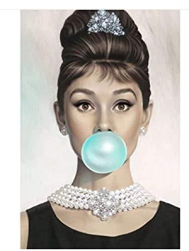Rompecabezas 1000 Piezas Audrey Hepburn Blow Blue Bubbles Citas Arte Adultos Juegos para Niños Juguetes Educativos Wq20Zj