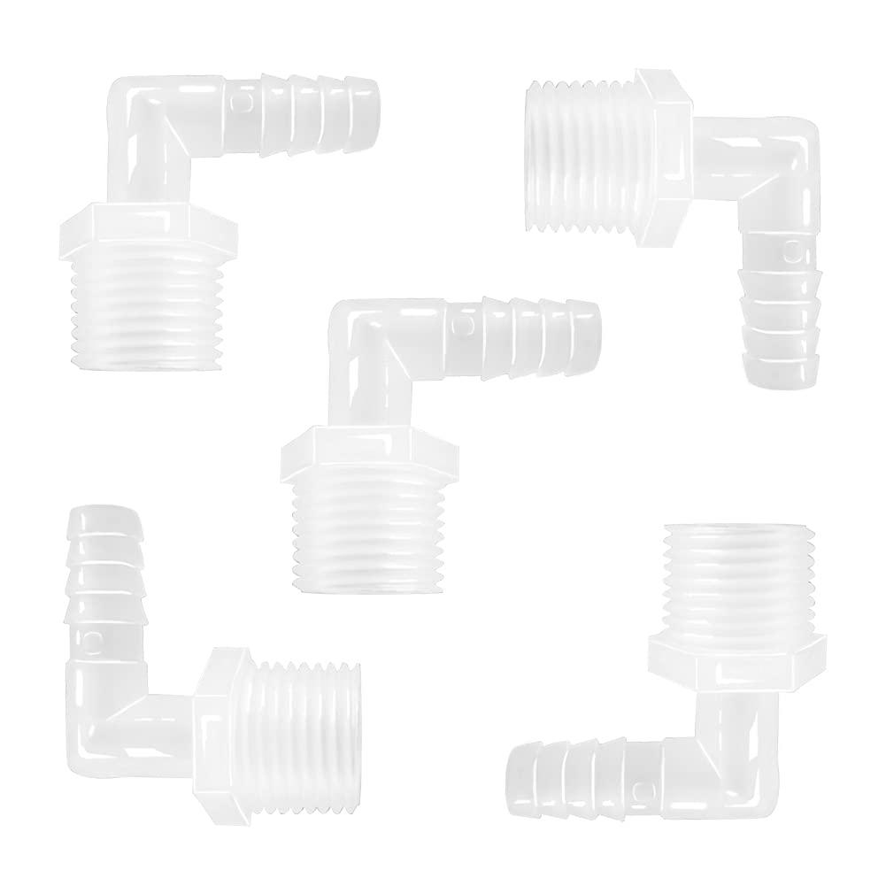 Joywayus Plastic Hose Barb Fittings 90°Elbow x Free Shipping Max 76% OFF Cheap Bargain Gift 5 8