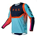 RngCarSticker Camiseta de Jersey de Bicicleta de montaña, Ajuste Holgado de Jersey de Bicicleta,Jerseys de Bicicleta de montaña para Hombre, Camiseta de MTB, Ropa de Motocross M