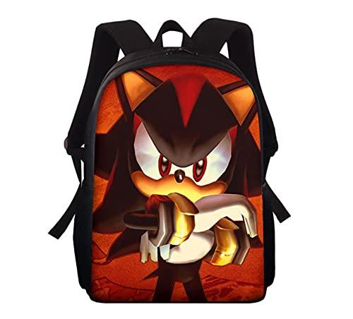 Mochila escolar Sonic Nueva mochila Sonic para niños, niñas, bolsos, moda, patrón colorido, mochila para portátil, hombres, mujeres, mochila de regreso a la escuela
