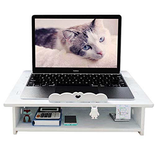 Laptop Desktop Office Cooling Pad - Notebook Computer Cooling Stand with Keyboard Storage Space can Arrange Wires for Women, Children, and Men, Used for Mini Bookshelf Office Decoration Accessories