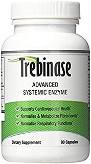 Trebinase 320,000 FU's Per Capsule Advanced Systemic Enzyme Blend of Serrapeptase, Nattokinase & Seaprose Plus Co-Enzymes - Dissolve Scar Tissue Quickly.- 99.99% Pure Pharmaceutical Grade Enzymes