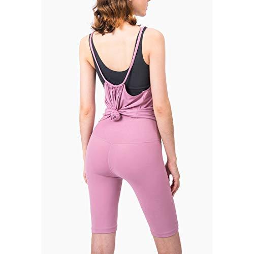 Hanks' Shop Sport Unterwäsche, lose beiläufige Sportkleidung lose und lüftet Kleine Sling Versatile Yoga-Anzug Vest Sport Smock (Color : Pink Taupe, Size : Free Size)