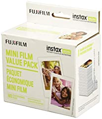 60 Image value pack Instax Mini film Compatible with all Instax Mini style cameras Image Area 	1.81 x 2.44 inches
