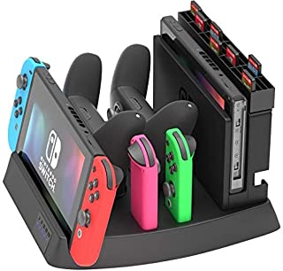 Skywin Charging Display Stand for Nintendo Switch - Nintendo Switch Charging Dock and game holder for Switch Console, Joy-...