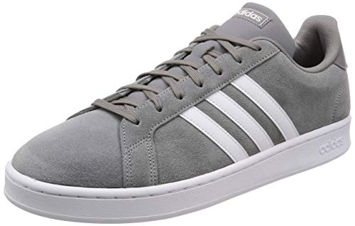 adidas Mens Grand Court Sneaker, Grey/Cloud White/Grey, 42 2/3 EU