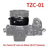 TECHART 自動絞り キヤノンEFマウントレンズ →ニコンマイクロカメラ (Z6 Z7 Z50) TZC-01 電子接点付きマウントアダプター オートフォーカスレンズアダプター