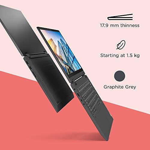 Lenovo IdeaPad Flex 5i 10th Gen Intel Core i3 14 inch Full HD IPS 2-in-1 Convertible Laptop (4GB/256GB SSD/Windows 10/MS Office 2019/Graphite Grey/1.5Kg), 81X100NCIN