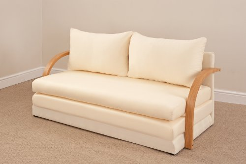 Fold Out Double Foam Sofa Bed Chloe Natural Sagers