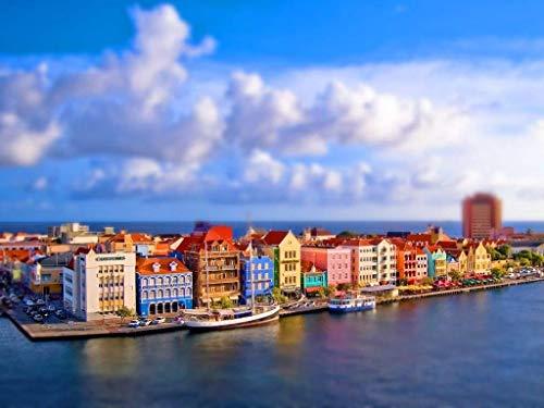 N/A Puzzle für Erwachsene 1000-teiliges Holzpuzzle Curacao-Landschaft auf dem karibischen Meer für Jugendliche und Erwachsene, sehr gutes Lernspiel