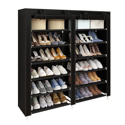 UDEAR Shoes Rack Organizador de Tela de Zapatos, Zapatero 7 Pisos con Resistente...