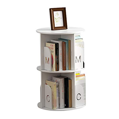 Bibliothèque 360 ° Rotating Bookshelf pour Enfants Dessin au Plafond d'enfants Rack Rack Rack compagne des Accueil Étudiants Simple Simple Simple Racks Modernes FANJIANI