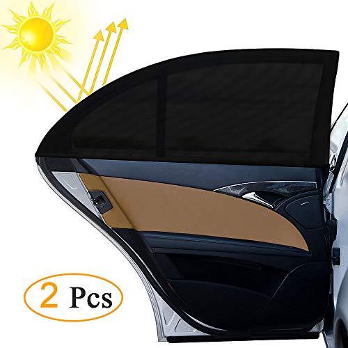 Sonnenschutz Auto , otumixx Universal Sonnenblende Auto Sonnenschutz 2 Stück mit UV Schutz Baby Kinder werdenvor Sonnengeschützt Autoscheiben Sonnenschutz geeignet für Autos und SUVs - Schwarz