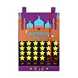 Calendario de pared, calendario de Adviento del Ramadán, decoración de fiesta del Ramadán para la decoración de Ramadán Eid Mubarak
