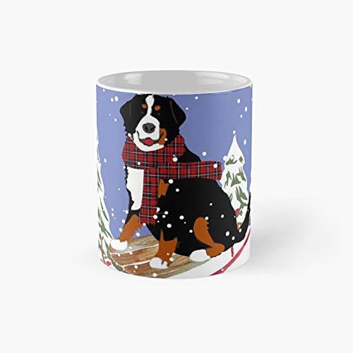 Taza clásica de trineo de perro de montaña Bernese | El mejor regalo divertidas tazas de café de 325 ml