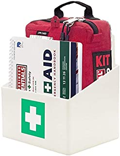 SURVIVAL Workplace Plus First Aid KIT - Includes Wall Bracket, Workplace Compliant kit and First aid Handbook