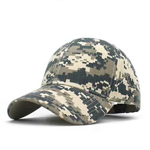 Yangll Männer Armee Camouflage Camo Cap Cadet Wüstenmosaik Hut Baseball Cap Jagd Fischen Blank Desert Hat Frühling Sommer Einstellbare Größe: 55~63Cm